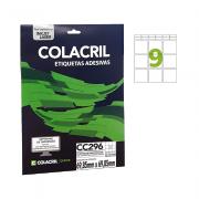 Etiqueta Carta 69,85mm x 69,85mm 25 Folhas CC296 Colacril