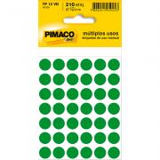 Etiqueta Multiuso Ø 12 mm 5 Folhas TP12 Verde Pimaco