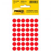 Etiqueta Multiuso Ø 12 mm 5 Folhas TP 12 Vermelho Pimaco