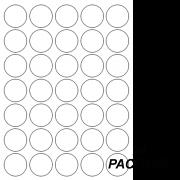 Etiqueta Multiuso Ø 13 mm 144 Folhas Transparente 6021TR Colacril