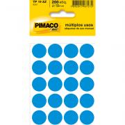 Etiqueta Multiuso Ø 19 mm 10 Folhas TP19 Azul Pimaco