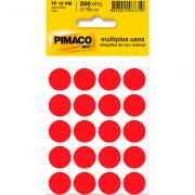 Etiqueta Multiuso Ø 19 mm 10 Folhas TP19 Vermelho Pimaco