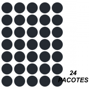 Etiqueta Multiuso Ø 19 mm 144 Folhas Preta 6001 Colacril