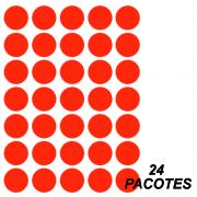 Etiqueta Multiuso Ø 19 mm 144 Folhas Vermelha 6001 Colacril