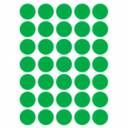 Etiqueta Multiuso Ø 19 mm 5 Folhas Verde 6001 Colacril