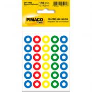 Etiqueta Reforço Colorida Ø 14,5 mm 5 Folhas OP-4433 Pimaco
