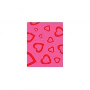 EVA Estampado 400mm x 500mm Rosa Coração 1.5mm BRW
