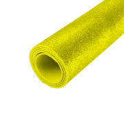 EVA Glitter 400mm x 480mm Amarelo 1.5mm BRW
