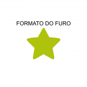 Furador de EVA 50mm Estrela Leo Arte