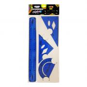 Jogo Geométrico Flexível Neon Azul BRW