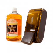 Kit Saboneteria 400mL + Sabonete Líquido 1L Premisse