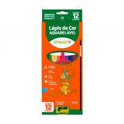 Lápis de Cor Aquarelável 12 Cores + Apontador Leo&Leo