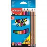 Lápis de Cor Color'Peps Classic 12 Cores + 3 Lápis Black'Peps Maped