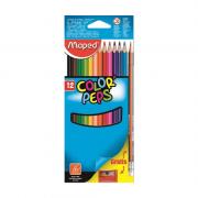 Lápis de Cor Color'Peps Classic 12 Cores + Apontador + Lápis Grafite Maped