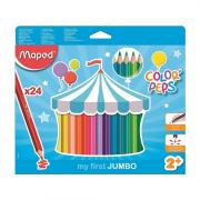 Lápis de Cor Color'Peps Jumbo 24 Cores Maped