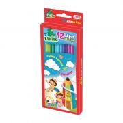 Lápis de Cor Resina Plástica 12 Cores Likito