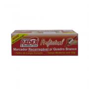 Marcador de Quadro Branco Profissional Vermelho 12 und Radex