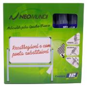 Marcador para Quadro Branco Recarregável Lilás NeoMundi com 12 Unidades