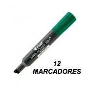 Marcador Permanente Ponta Chanfrada Pincel Atômico 1100-P Verde 12 und Pilot