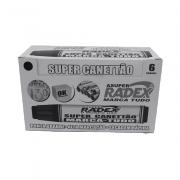 Marcador Permanente Preto 6 und Super Canettão Radex