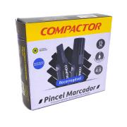 Marcador Permanente Recarregável 12 und Azul Compactor