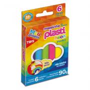 Massa de Modelar Plasti Neon 90gr 6 Cores Tris