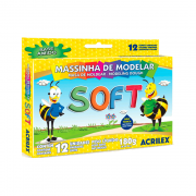 Massinha de Modelar 12 Cores Soft 180gr Acrilex