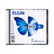 Mídia DVD-R 4.7Gb/ 120 min 8x Slim Case Elgin