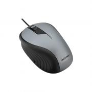 Mouse Ótico Emborrachado Preto e Cinza Multilaser