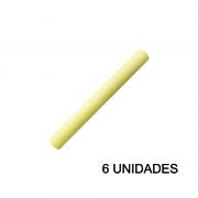 Papel Contact 45cm x 10m Leotack Amarelo Pastel 6 Unidades Leo Arte