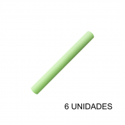 Papel Contact 45cm x 10m Leotack Verde Pastel 6 Unidades Leo Arte