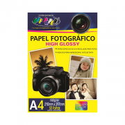 Papel Fotográfico High Glossy A4 180gr 50 folhas Off Paper