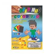 Papel Offpinho Color A4 120g 8 cores 25 folhas Off Paper