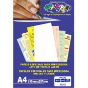 Papel Opaline Off Paper A4 180gr Branco C/ 50fls Cx 10 Pct