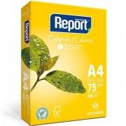 Papel Sulfite A4 75g Resma com 500 Folhas Amarelo Report Suzano