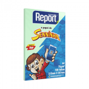 Papel Sulfite A4 Verde 75g 100 folhas Senninha Report