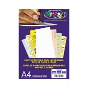 Papel Vergê A4 Branco 180gr 50 folhas Off Paper
