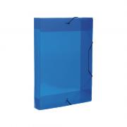 Pasta Aba Elástico Azul Ofício Lombo 4cm Top Line Dello