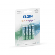 Pilha Alcalina AAA 4 Und Elgin
