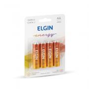 Pilha de Zinco AA 4 und Elgin