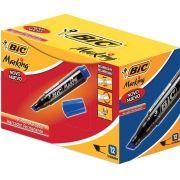 Pincel Marcador Permanente Azul Recarregável Marking 12 unid. Bic