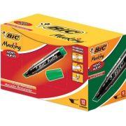Pincel Marcador Permanente Verde Recarregável Marking 12 unid. Bic