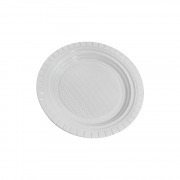 Pratos Descartáveis PS 150mm Branco 1000 Unidades Copozan