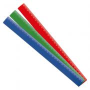 Régua de Plástico 30 cm Colorida Waleu