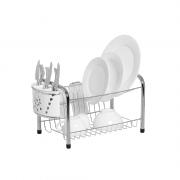 Secador de Louça Rei com Porta Copos e Porta Talheres Mimo Branco Niquelart