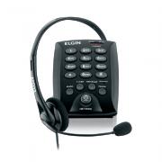 Telefone Headset Preto Elgin