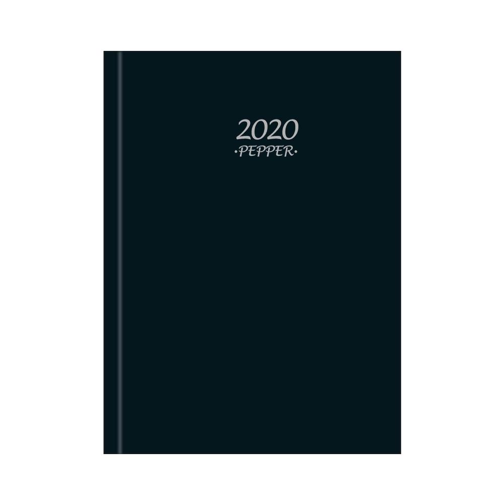 Agenda Costurada Diária Pepper Preta 2020 Tilibra