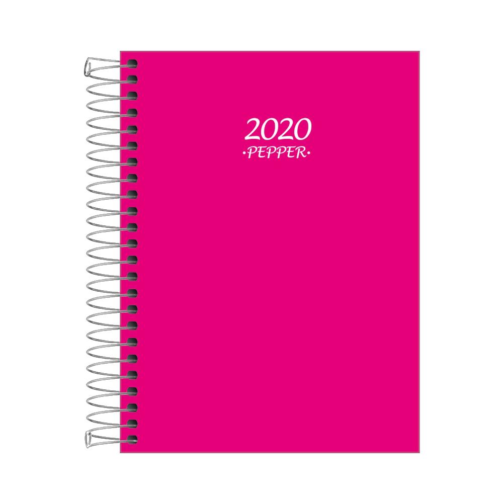 Agenda Espiral Diária Pepper Rosa 2020 Tilibra
