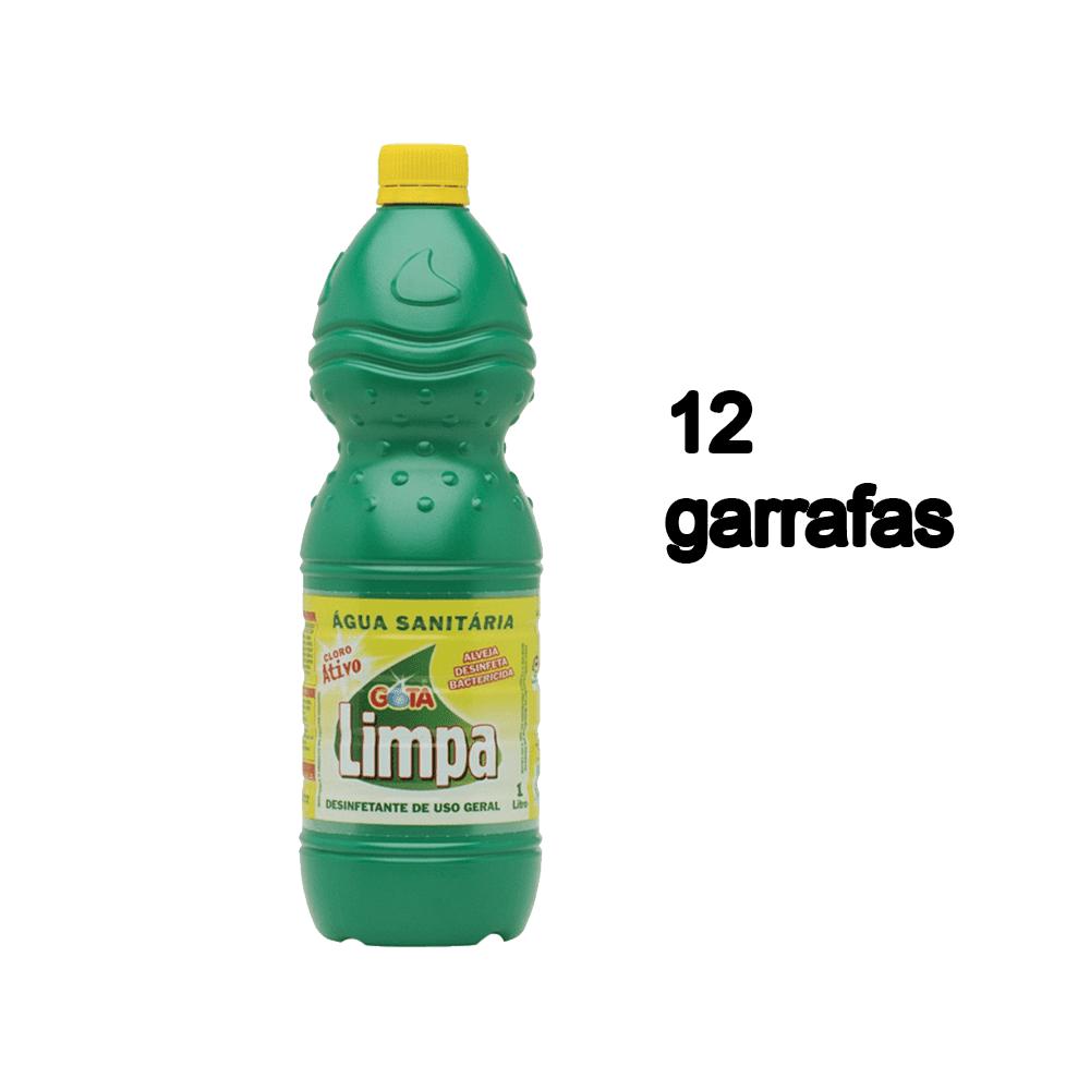 Água Sanitária 1L 12 und Gota Limpa