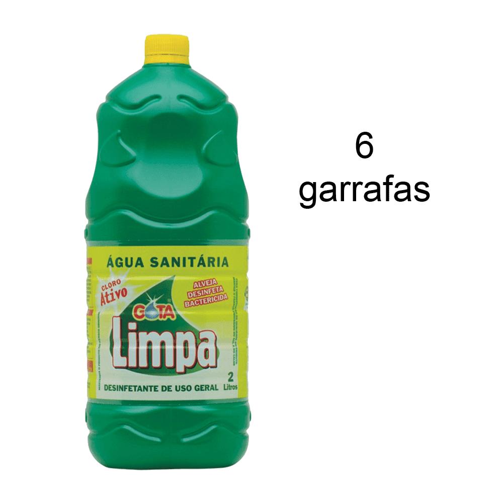 Água Sanitária 2L 6 und Gota Limpa
